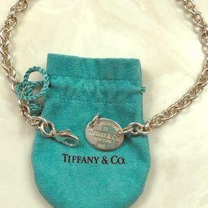 Tiffany & Co. tag necklace.